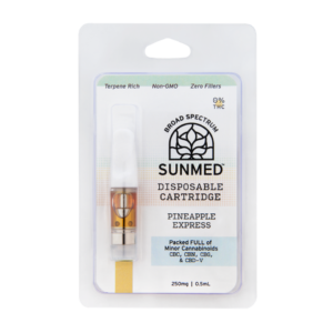 Quality CBD Eliquid Cartridges 250mg- Sunmed
