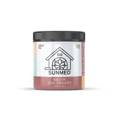 Bacon Dog CBD Treats 150mg- Sunmed